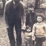 Duncan McPhedren, Isobel McPhedren & Niall Campbell with Grandpa McNaughton.