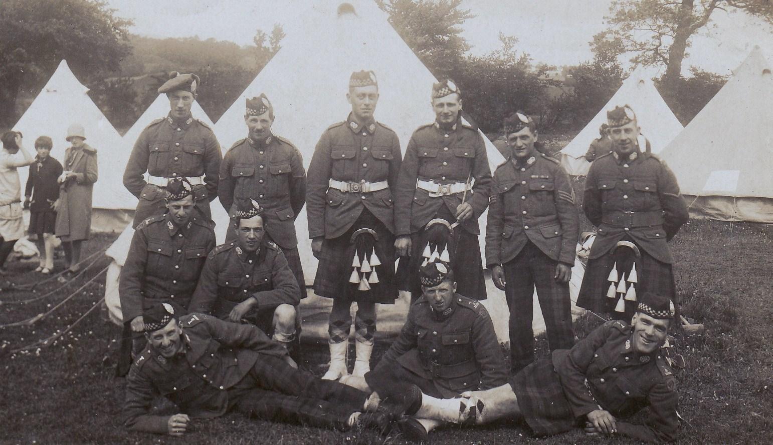 Argylls in Camp in World War 1