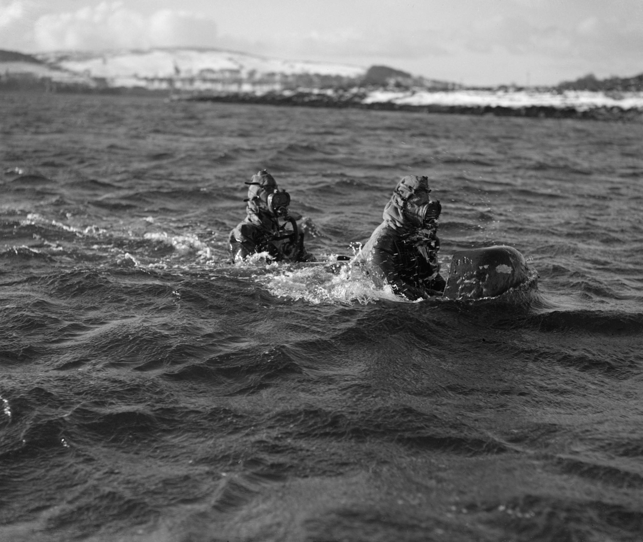 Manned Torpedo in Loch Striven