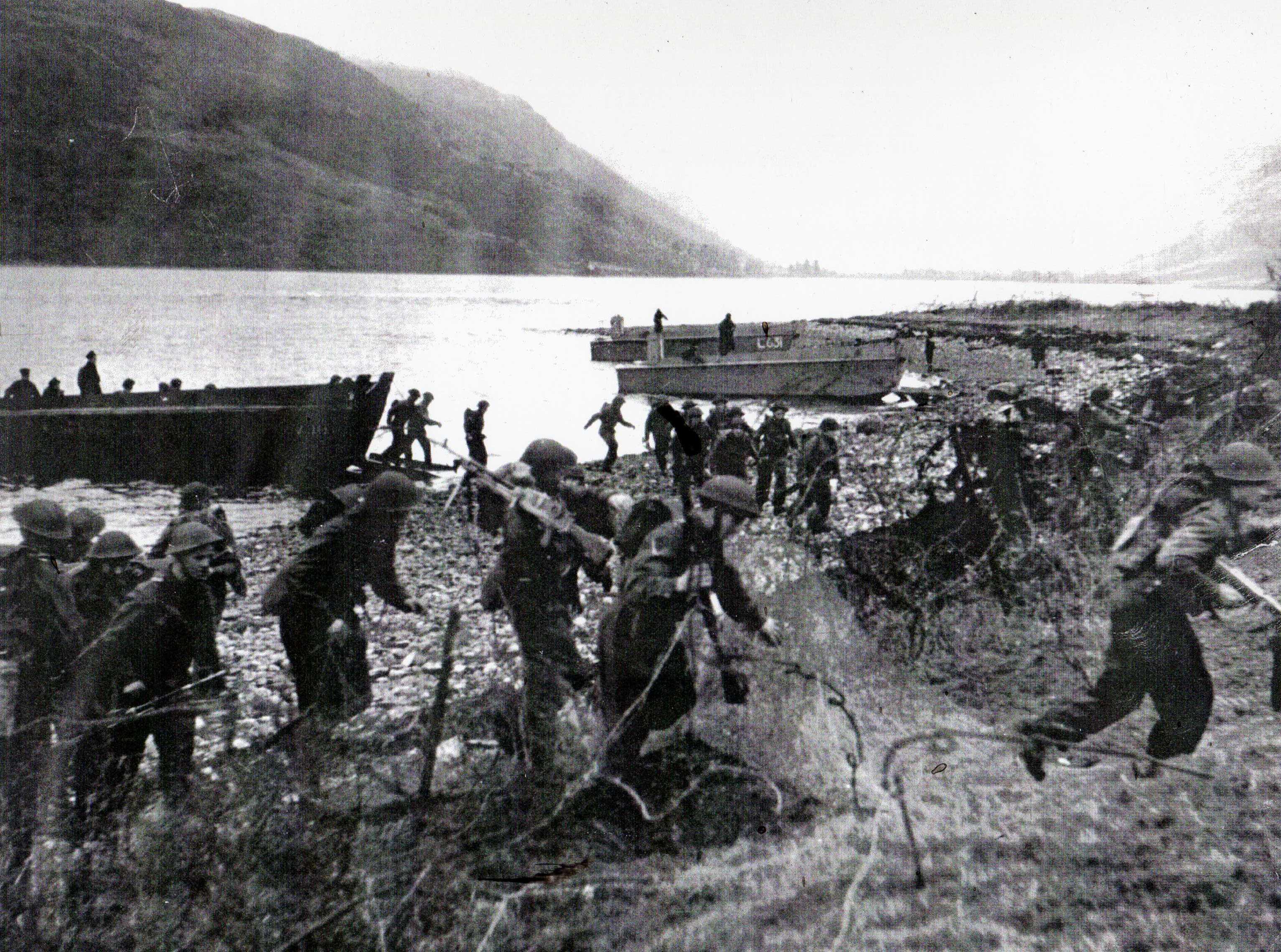 Practice Landing in Loch Striven in World War 2