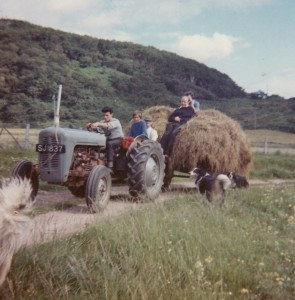 Hamish Carmichael on the Tractor Fearnoch  1962